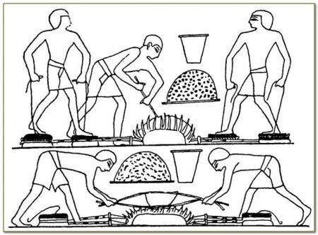 Египетские металлисты за работой